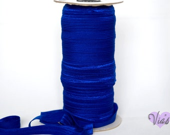 "5 Yards Cobalt Blue : 5/8"" inch FOE Fold Over Lingerie Elastic Baby Headbands Hair Ties"