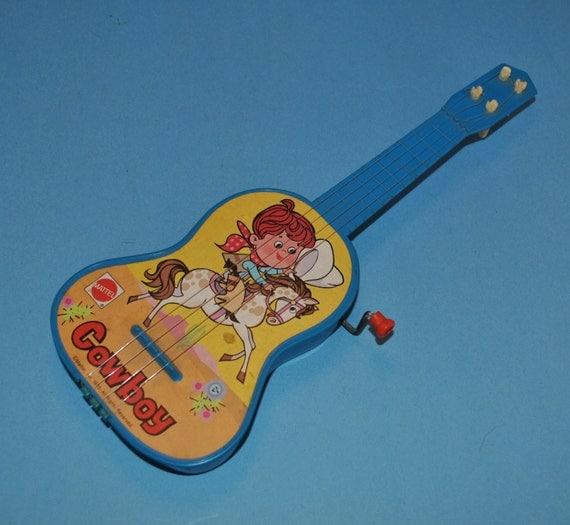 Old Mattel Toys : Vintage mattel plastic cowboy guitar toy with