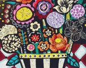 Large Modern Cross Stitch Kit 'Flowers Contemporary Abstract Modern Art' By Heather Galler - Counted CrossStitch