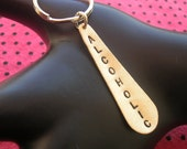 Brother Gift, ALCOHOLIC, Drunk in Love, Alcohol Gifts, Sorority Gifts, Fraternity, Wino, Wine, Addiction, Brass Teardrop Keychain, Modern