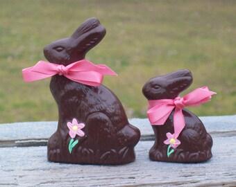 Faux Fake Food Chocolate Bunny Set - Ceramic