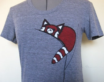 Red Panda T Shirt for Women sizes Small through Xlarge