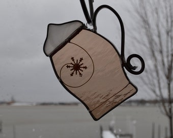 Cup of Cocoa  Stained Glass Suncatcher