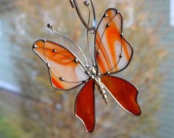 Summer Daze Butterfly Stained Glass Suncatcher