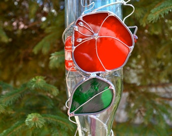 Morning Glory Hummingbird Feeder from Recycled Bottle