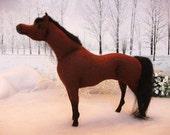 OOAK Wool felt fabic model Arab horse 'Abacus'