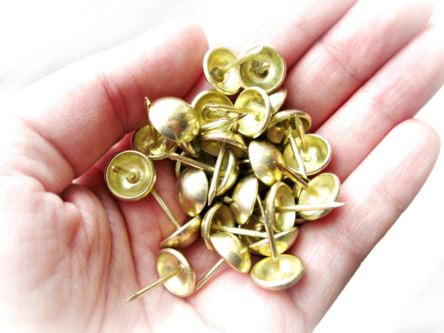 Brass Upholstery Tacks Nails With 7 16 Inch Round Dome Head