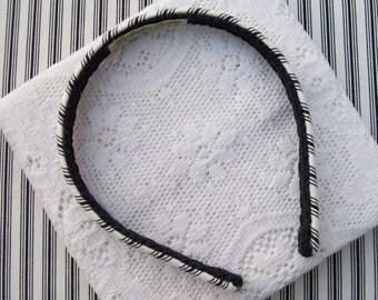 Black Striped Headband Summer Narrow