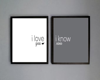... love you, Coupels gift, bedroom decor,I know, Digital File Download