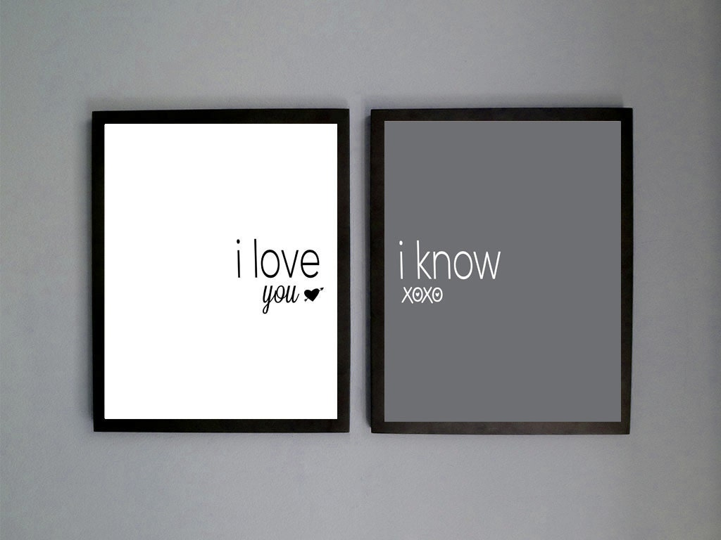 Two 2 Printable Files Digital Download Love Prints Printables I