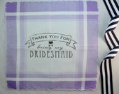 Thank You For Being My Bridesmaid Handkerchief