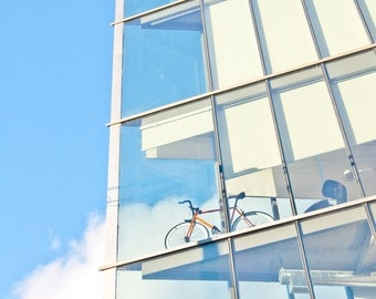 Bicycle Photograph. The Corner Office / Parking in the Sky. Toronto, Canada. 8x12