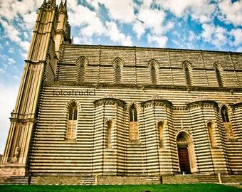 Orvieto, Umbrian Region, Italy Photograph. Duomo - Church - Cathedral -
