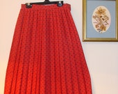 SALE 1950s-1960s Cos Cob Red Polka Dot Skirt
