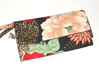 Wallet / Wristlet / Clutch / Cell Phone / CheckBook / Bridesmaid Gifts / Lady Yang Floral / Alexander Henry