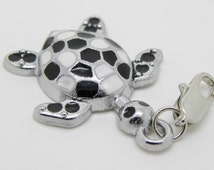 3 pcs Enamel Turtle Charms  Lobster Clasp  Ships from USA Immediately. (Charm 01)