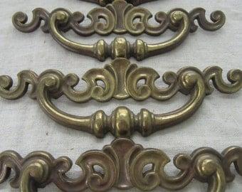 Mid Century Large Brass Cabinet Pulls