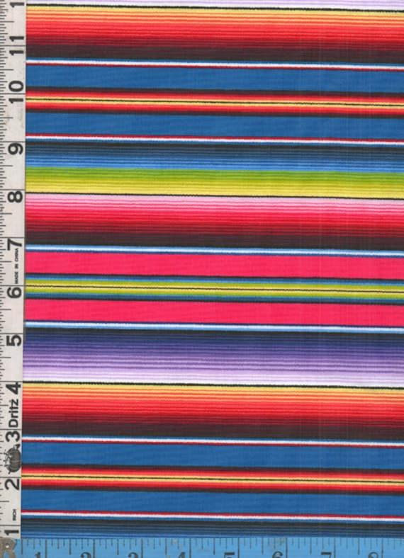 Fabric Elizabeth's Studio FIESTA SERAPE stripe blue by ...