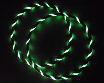 Money-Saving Glow 3-PACK. Custom Designer GLOW In The DARK Hula Hoop & Mini Twins Set. You Choose Colors and Sizes. Over 20,000 Hoops SoLd.