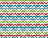 WINTER SALE - Hooty Hoot Returns - FLANNEL -  Chevron in Blue - sku F3444 - 1 Yard -  by  Doohikey Designs for Riley Blake Designs