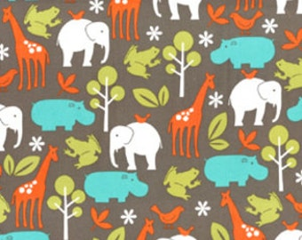 SUMMER SALE - FLANNEL - Zoology in Dirt - 1 Yard - by Michael Miller Fabrics - Fx4061