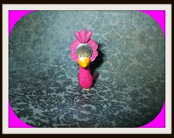 Gothic Witch Magical Alice in Wonderland mirror bird dollhouse miniature fairytale ooak Custom orders Welcome