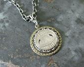 Transit Token Jewelry - Authentic Los Angeles California Metropolitan Transit Authority Medallion Pendant Necklace - Mixed Metals