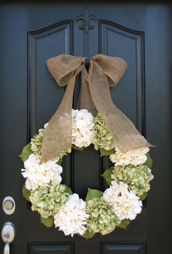 Summer Wreath Xl Hydrangea Wreath Summer Decorations Summer