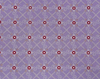 Yard of Purple Tante Ema Fabric