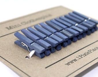 Mini Clothespins - Set of 12 - Blue Moon