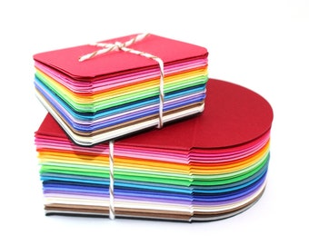 Set of 25 Rainbow Mini Note cards and Envelopes