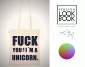unicorn Tote Screenprinted Bag