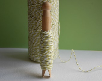 20 Yards Honeydew Green Bakers Twine on a Clothespin -- Crafts-Favors-Card Making-Tag Making-Gift Wrap-Bake Sale-Garland-Ready to Ship