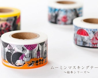 SALE - moomin character - masking tape -  forest - 30mm x 15m