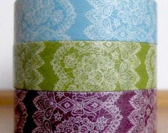 yonagadou - japanese washi masking tape - patterns of japan - sweet and nostalgic - lace