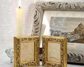 Gold Mini Hinged Double Frame Hanging Vine Pattern Wedding Anniversary Gift