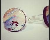 Vintage Hawaii Surfer Cufflinks