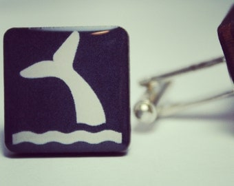 Whale Tail Cufflinks