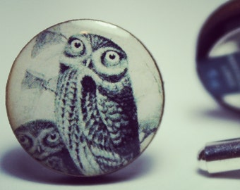 Vintage Owl Cufflinks