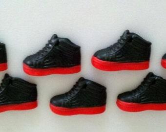 Edible Fondant Sneakers-Hi Tops-Fondant Shoes-Cake/Cupcake Toppers-Set of 12