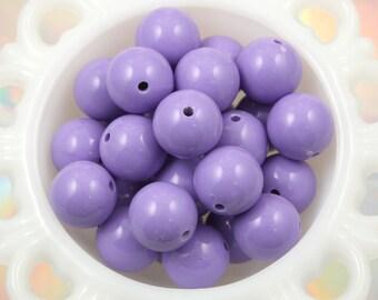 20mm Chunky Gumball Bubblegum Resin Beads - Light Purple - 12 pc set