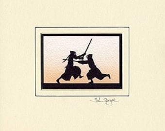 Kendo Hand-Cut Papercut