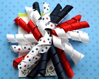 Red, White, and Navy Korker Clip
