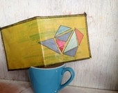 Upcycled Slim Wallet - Spring Geometric - handmade from recycled plastic bags