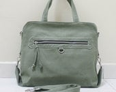 New Year SALE - 20% OFF Wisey in Army Green / Messenger / Handheld / Document bag / Laptop / working Bag / Purse / Women / For her