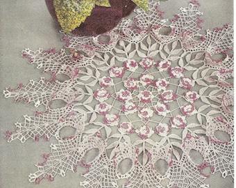 Rose Doily Vintage Crochet Pattern 098 PDF