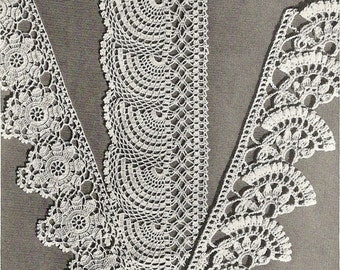1941 Exquisite Edgings Vintage Crochet Pattern 198