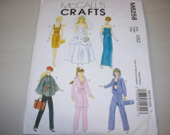 "New McCall's 11 1/2"" Doll Clothing Pattern, M6258  (Free US Shipping)"