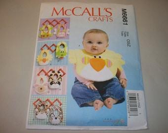New McCall's Baby Bibs Pattern, M6661 (Free US Shipping)