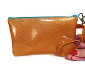 Gold Wristlet Purse Day to Evening Clutch